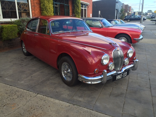 SOLD 1962 Jaguar MK 2 3.4 All Syncro Man OD and chrome wire wheels